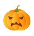 Angry carved pumpkin vector image