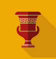 antique greek vase vector image vector image