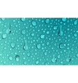 Background of water drops vector image vector image