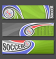 banners for soccer vector image vector image