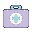 briefcase with medical symbol and fist aid kit vector image vector image