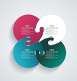 Business Infographics circle style vector image vector image