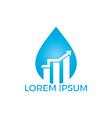 business logo water drop sign vector image vector image