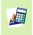 Calculator and Chart Isolated Design Flat vector image vector image