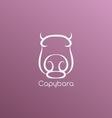Capybara logo vector image