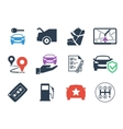 Car rental Icons set vector image vector image