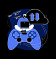 cloud gaming abstract concept vector image vector image