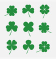 clover leaves set vector image vector image