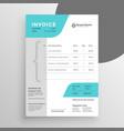 creative modern invoice template design vector image vector image