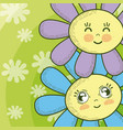 cute flowers cartoons vector image vector image