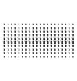 death scytheman shape halftone pattern vector image