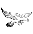doodle eagle vector image vector image