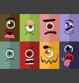 eye cartoon vector image
