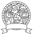 Funny translator or interpreter emblem