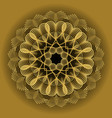 gold circle mandala in optical art style for vector image vector image