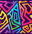 graffiti geometric pattern wiht grunge effect vector image vector image