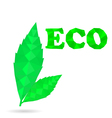 Green leaves eco vector image