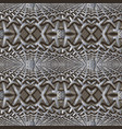 grunge textured 3d grid seamless pattern surface vector image vector image
