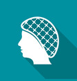 hairnets must be worn flat icon vector image vector image