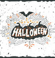 Halloween poster with hand lettering vector image vector image