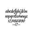 Hand-written italic alphabet lowercase
