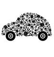handprint car vector image vector image
