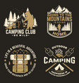happy camper concept for shirt or logo vector image