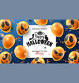 happy halloween sale banner vector image vector image