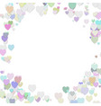 happy random heart background template design vector image vector image