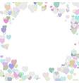 happy random heart background template design vector image vector image