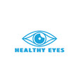 healthy eyes logo template vector image vector image
