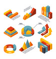 isometric diagrams for business infographic vector image vector image