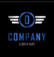 letter d automotive creative business logo vector image vector image
