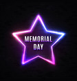 memorial day banner on black brick wall vector image