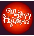 Merry Christmas lettering design handwriting text vector image vector image