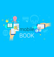 mobile book and electronic library app on vector image vector image