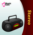 music stereo icon vector image vector image