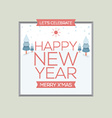 New Year Card Vintage Style vector image vector image