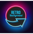 Night retro background with lights vector image vector image