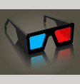 object for the film industry glasses on a vector image