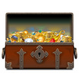 old pirate forged chest with gold vector image