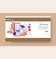 online education landing web page template gadget vector image vector image
