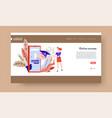 online education landing web page template gadget vector image