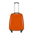 orange travel bag icon realistic style vector image