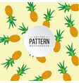 pattern pineapple yellow color background i vector image vector image