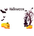 postcard for a holiday with halloween pumpkins vector image
