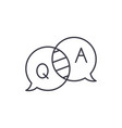 questions and answers line icon concept questions vector image vector image