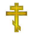 Religious orthodox gold cross vector image vector image