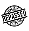 Repassed rubber stamp vector image vector image