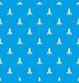 rocket future pattern seamless blue vector image vector image